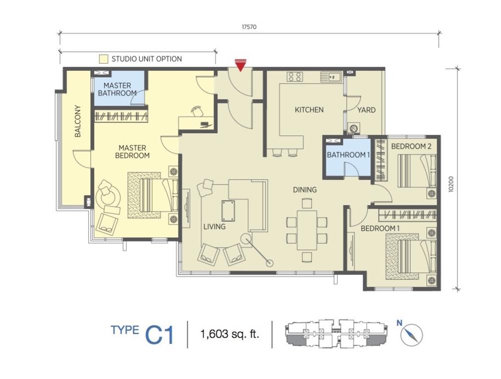 Saville @ Cheras Type C1 Floor Plan