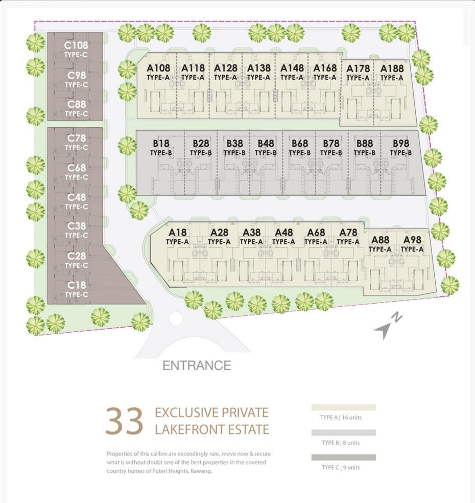 Site Plan of Tamarind @ Puteri Heights