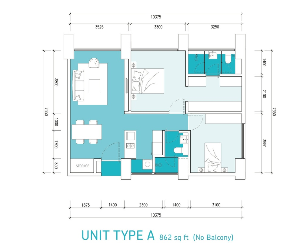 Lumi Tropicana Type A Floor Plan