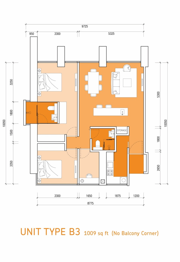 Lumi Tropicana Type B3 Floor Plan