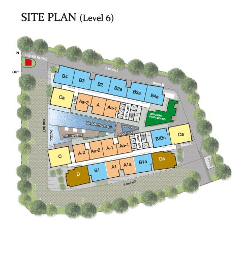Site Plan of Skyz Jelutong Residences
