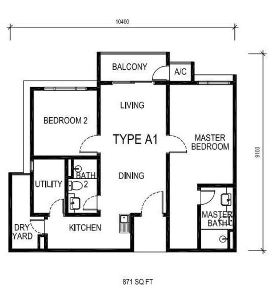 The Nest Type A1 Floor Plan