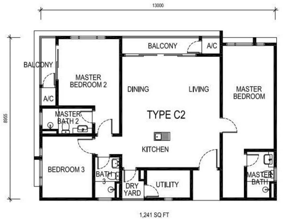 The Nest Type C2 Floor Plan