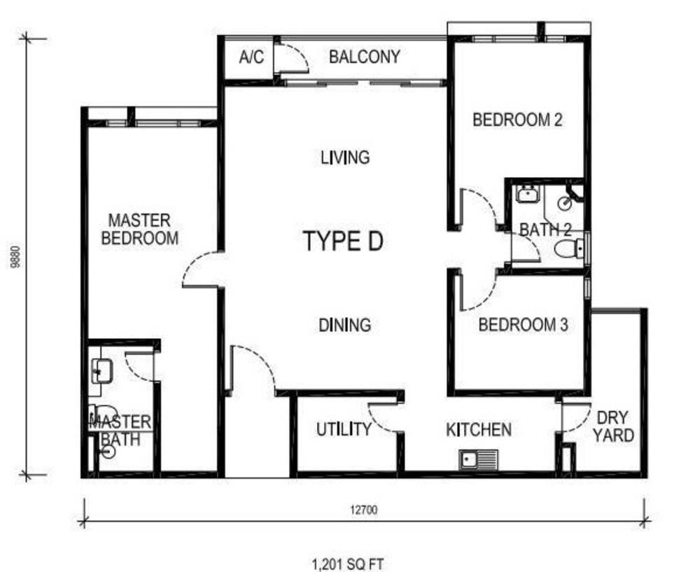 The Nest Type D Floor Plan