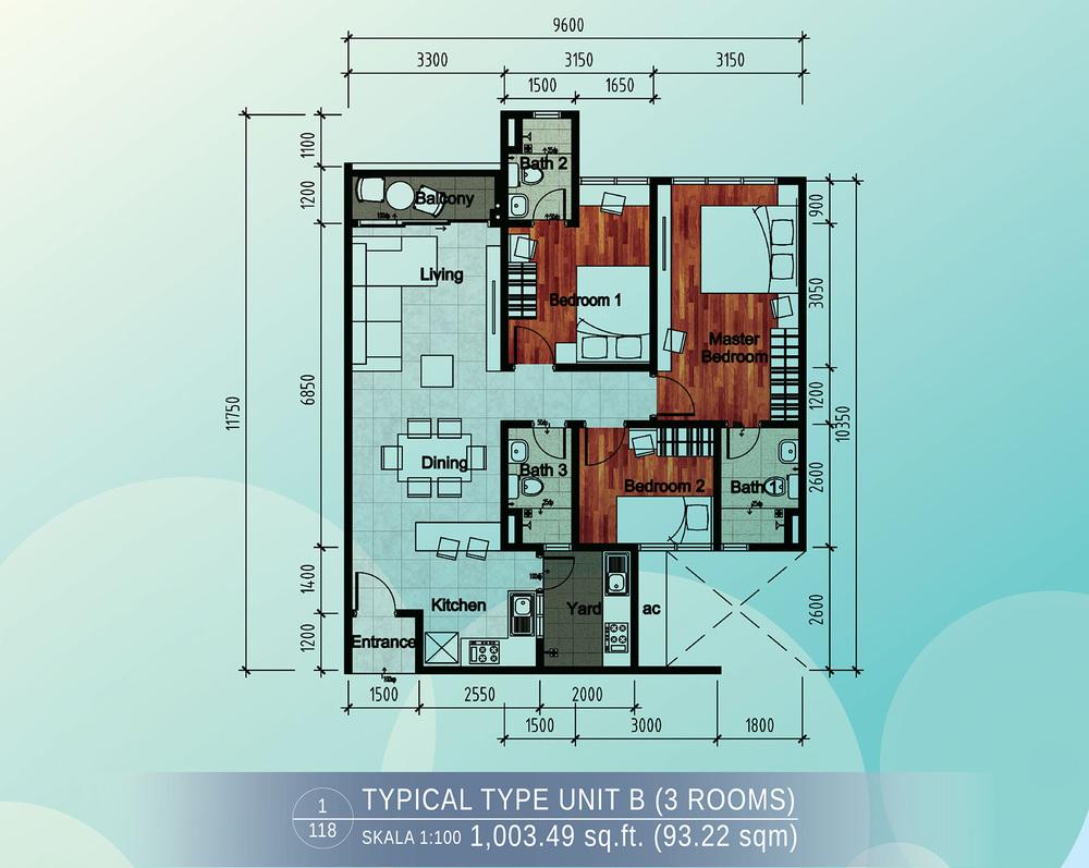 Casa Green Type B Floor Plan