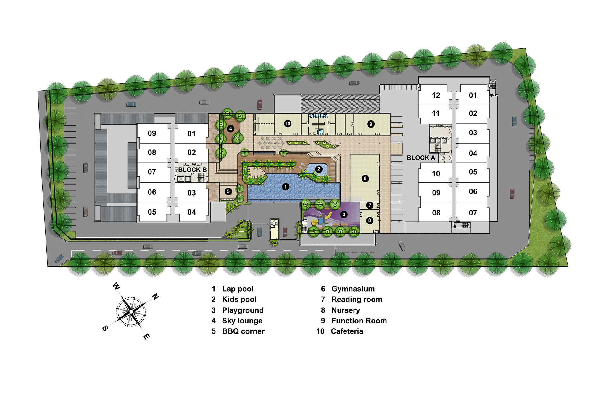 Site Plan of Lavender Residence