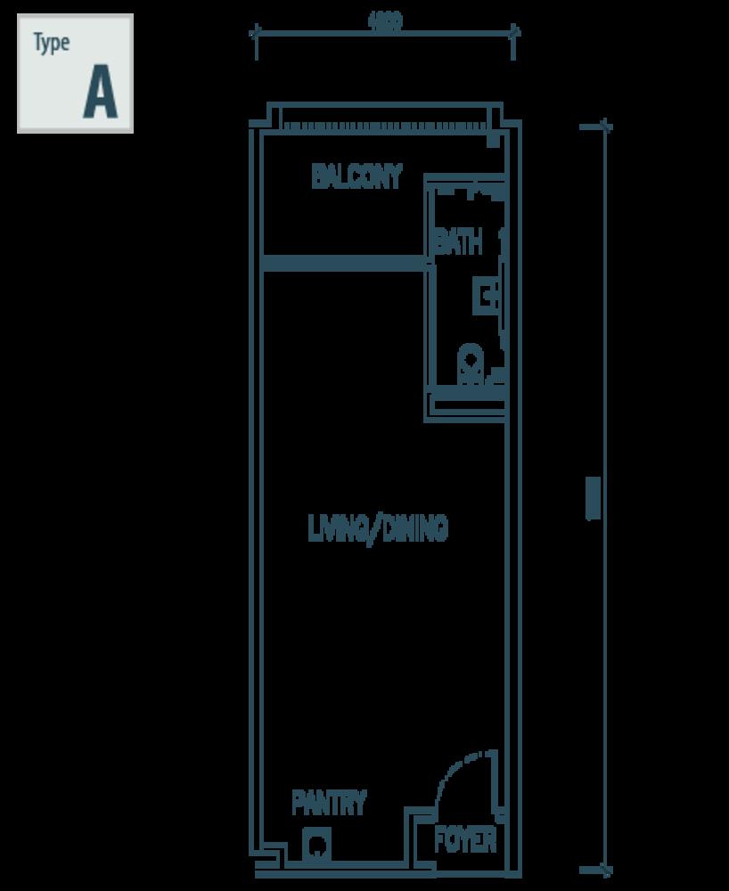 The Netizen Type A Floor Plan