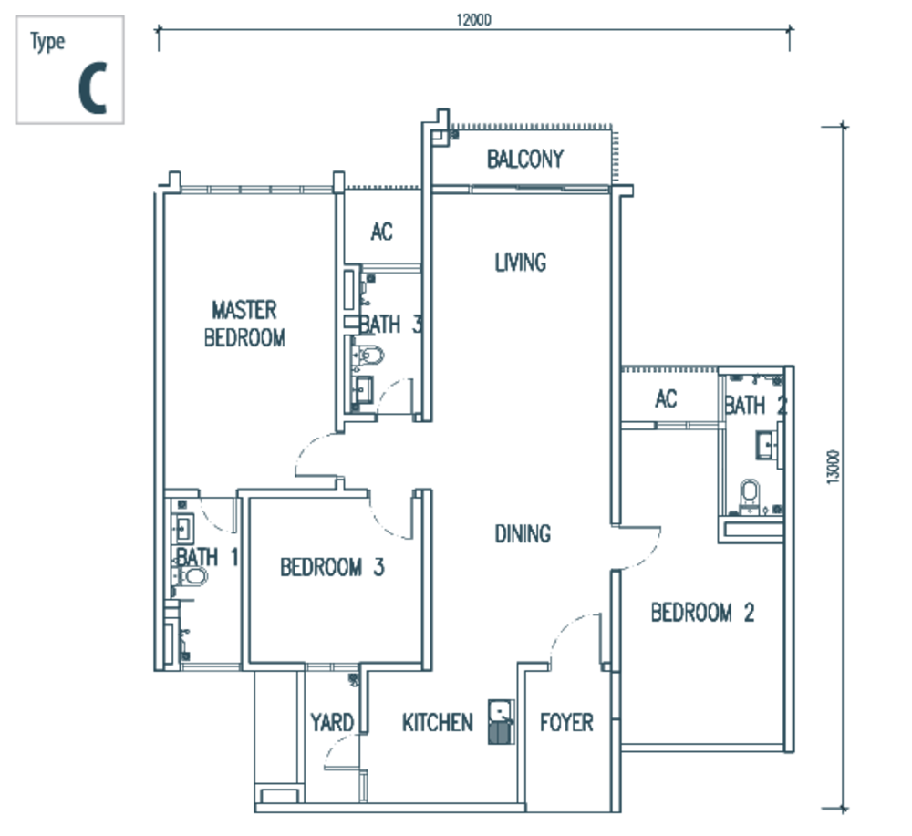 The Netizen Type C Floor Plan