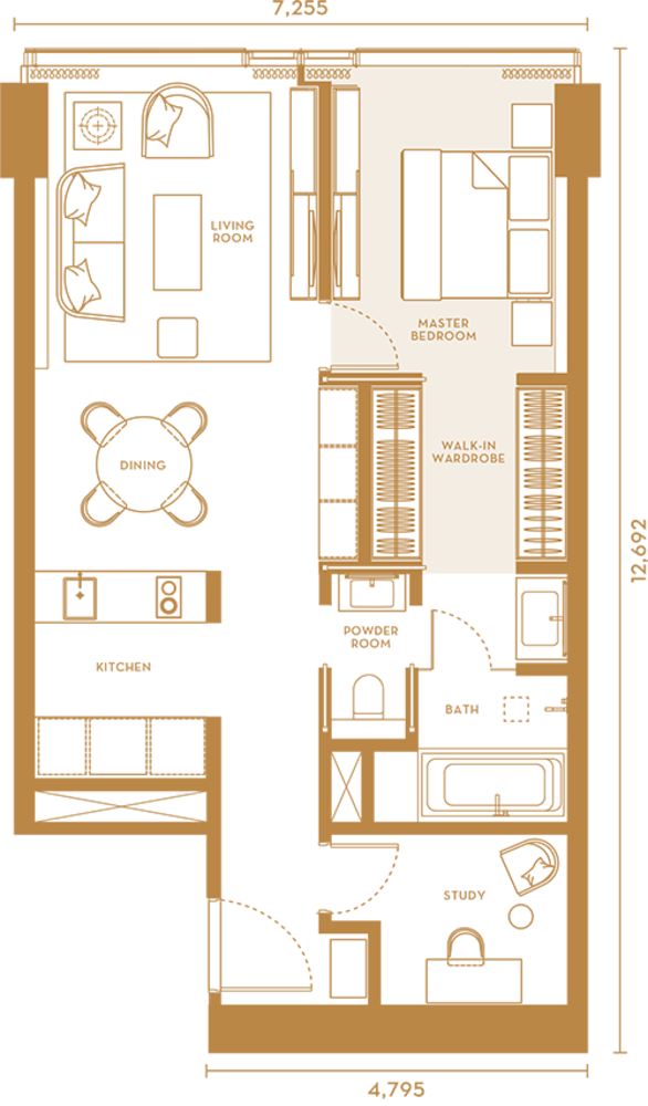 Pavilion Suites Type B Floor Plan