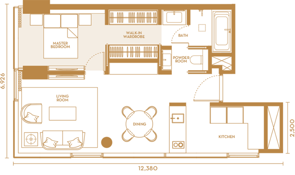 Pavilion Suites Type C Floor Plan