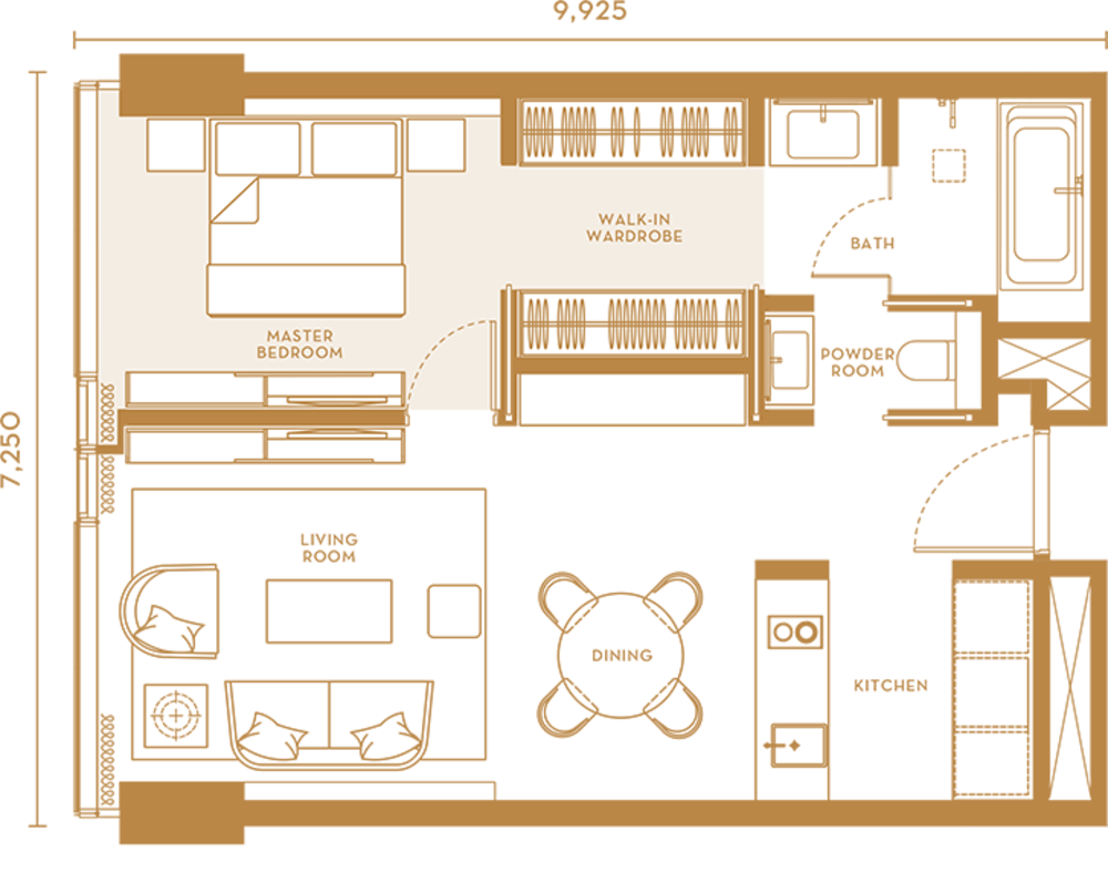 Pavilion Suites Type D Floor Plan