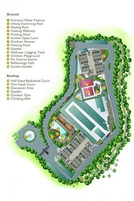 Site Plan of Oasis 1 @ Mutiara Heights