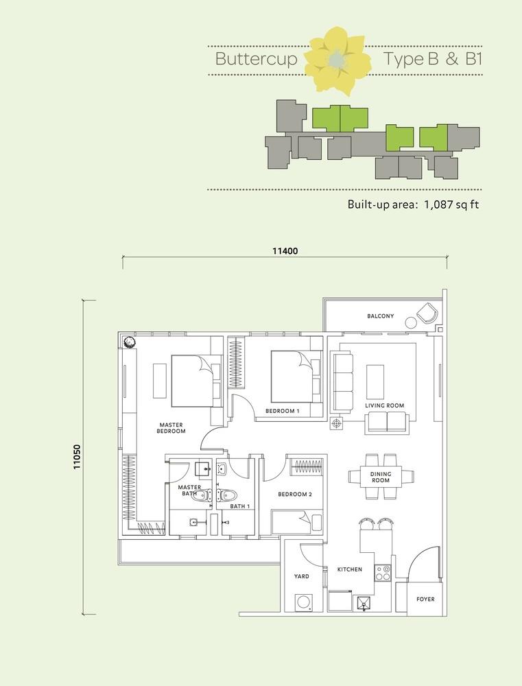 Vista Mahogani Buttercup Floor Plan