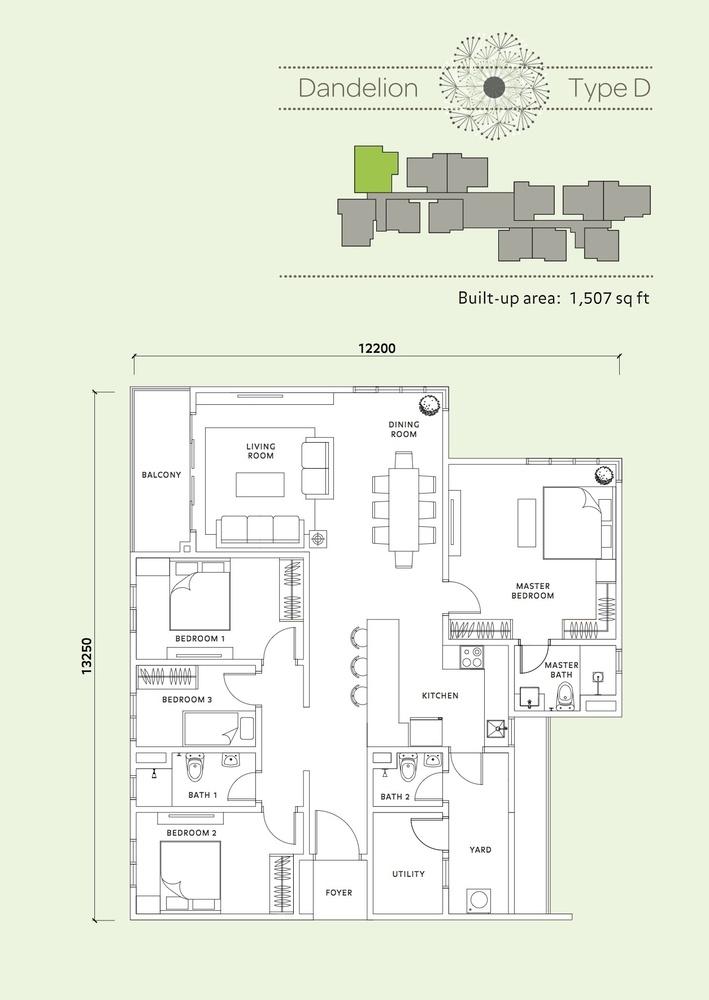 Vista Mahogani Dandelion Floor Plan