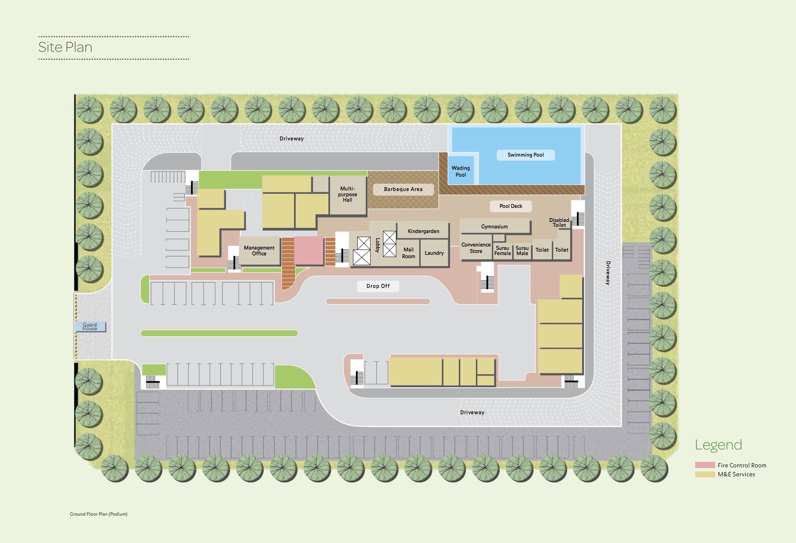 Site Plan of Vista Mahogani