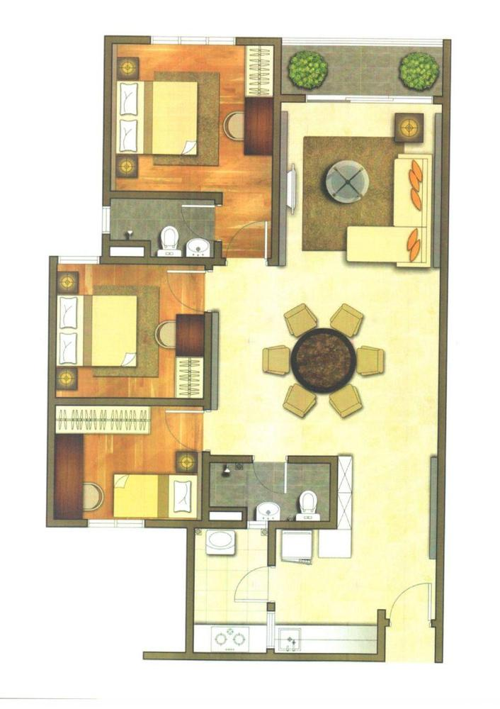 The Holmes Typical Unit Floor Plan
