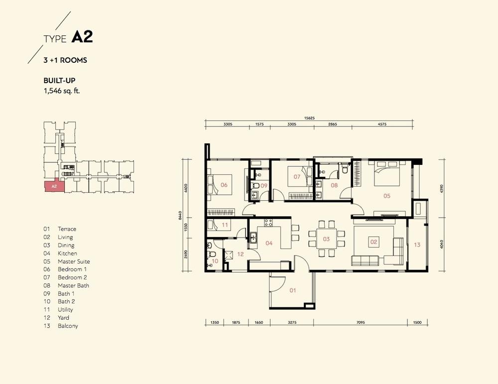 Prima Harmoni 2 @ Bukit Prima Pelangi Type A2 (Block A) Floor Plan