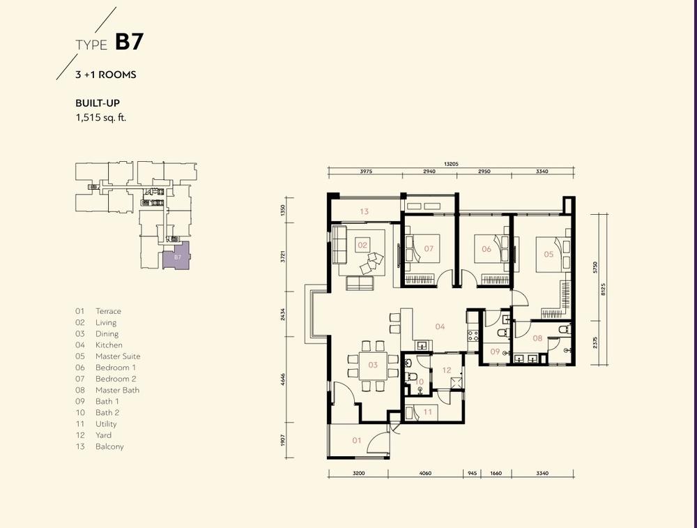 Prima Harmoni 2 @ Bukit Prima Pelangi Type B7 (Block B) Floor Plan