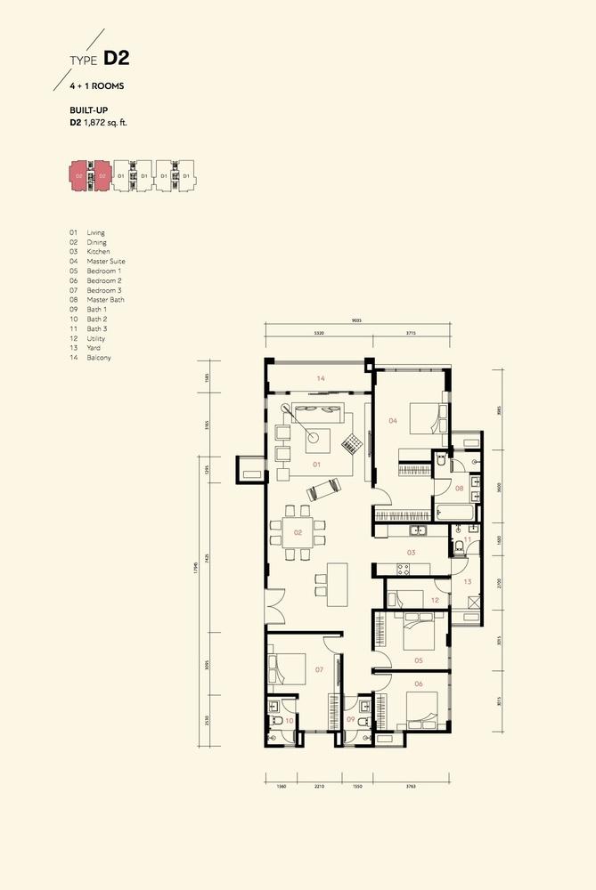 Prima Harmoni 2 @ Bukit Prima Pelangi Type D2 (Block C) Floor Plan