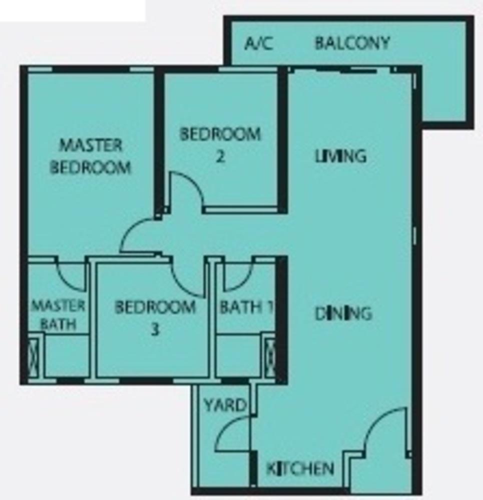 Mercury Serviced Apartment @ Sentul Village Type A  Floor Plan