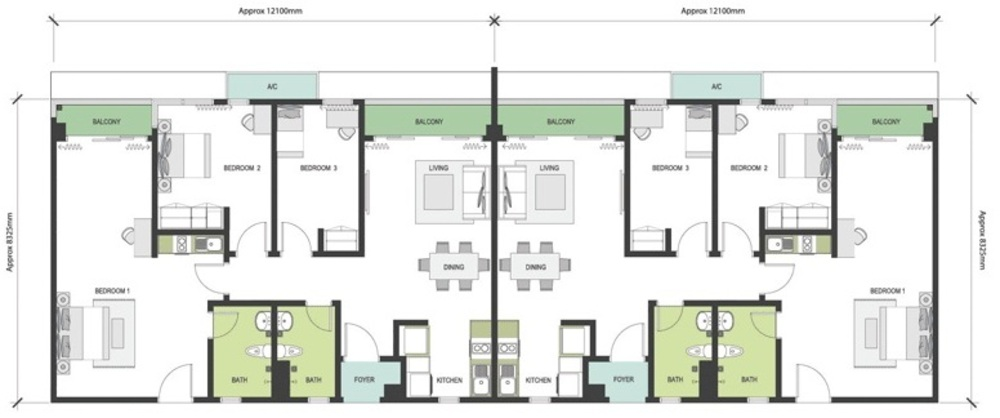 Nadayu63 Type B/B2/B3 Floor Plan