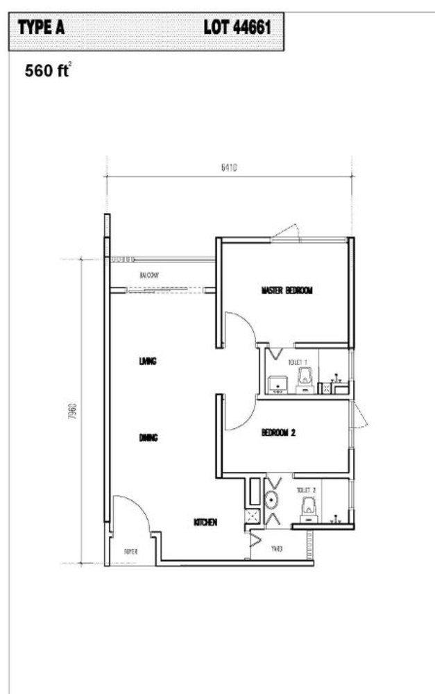 Vim 3 Type A Floor Plan