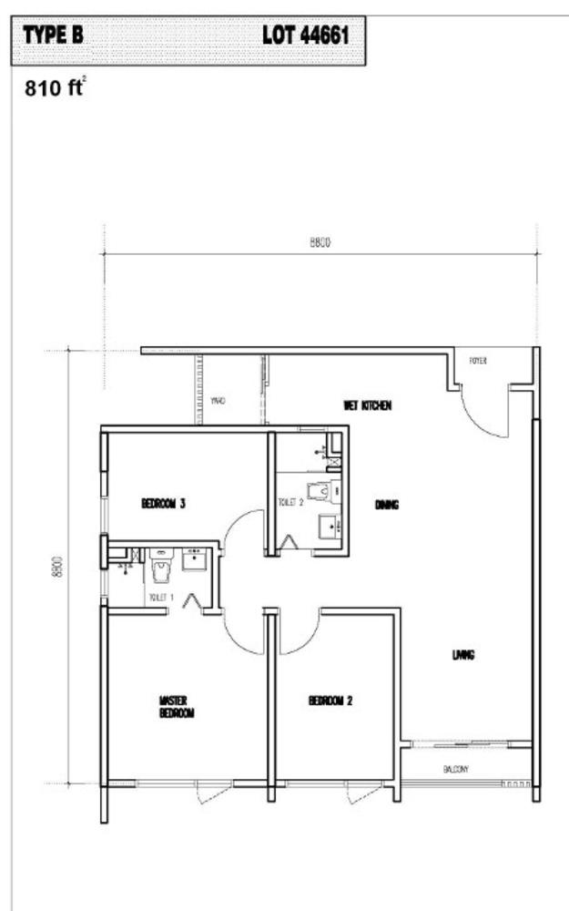 Vim 3 Type B Floor Plan