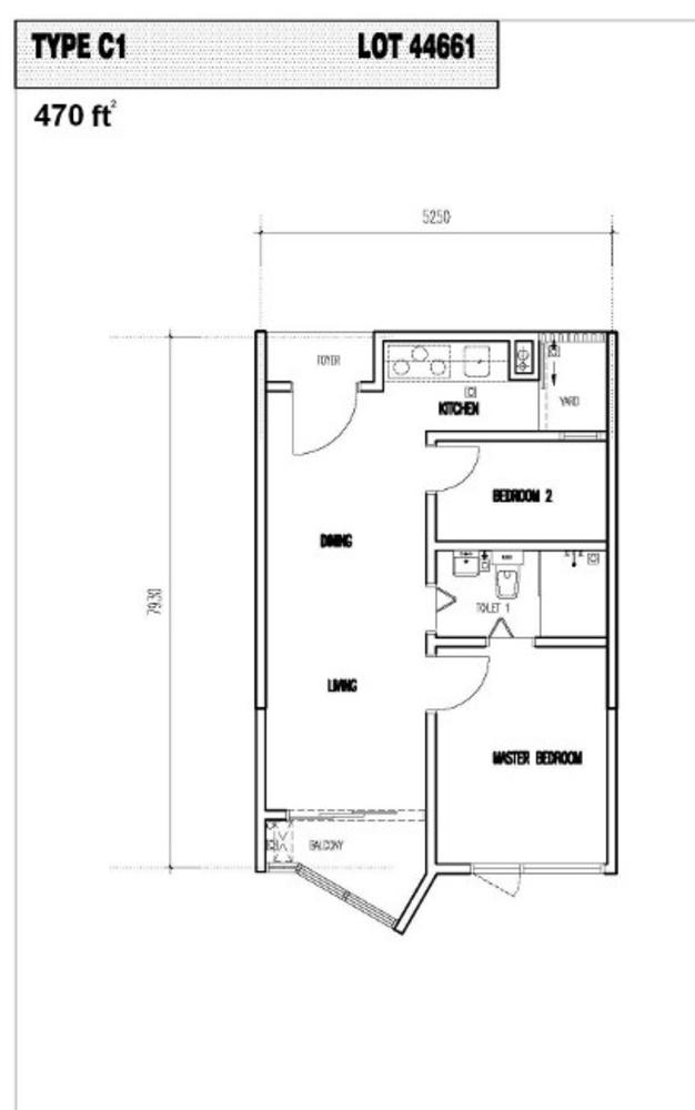 Vim 3 Type C1 Floor Plan