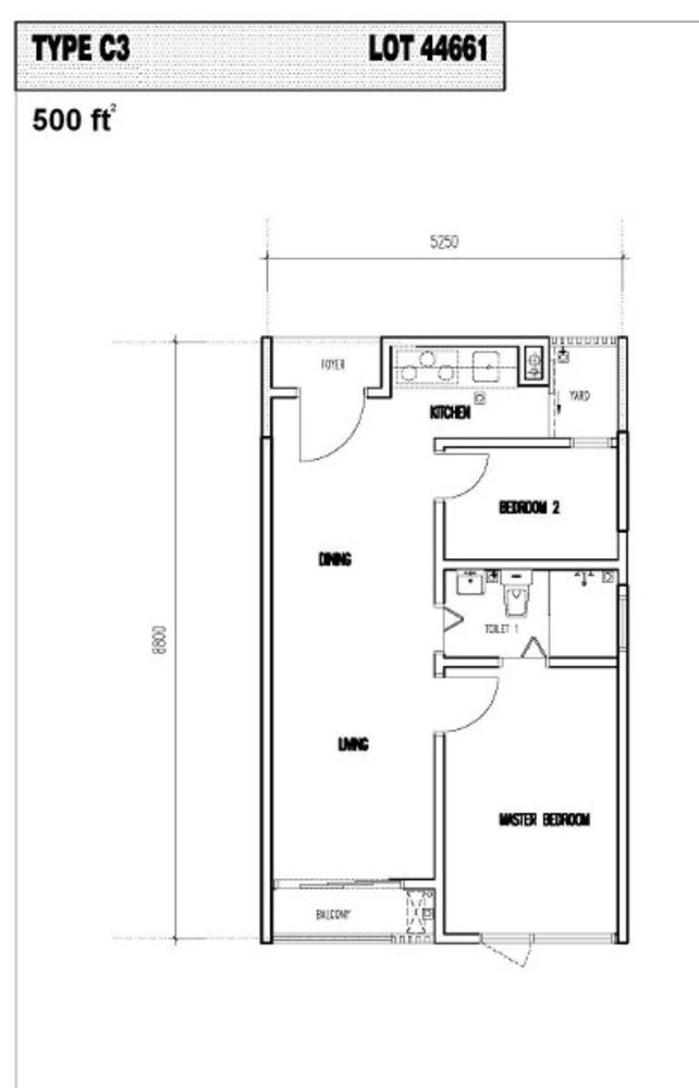 Vim 3 Type C3 Floor Plan