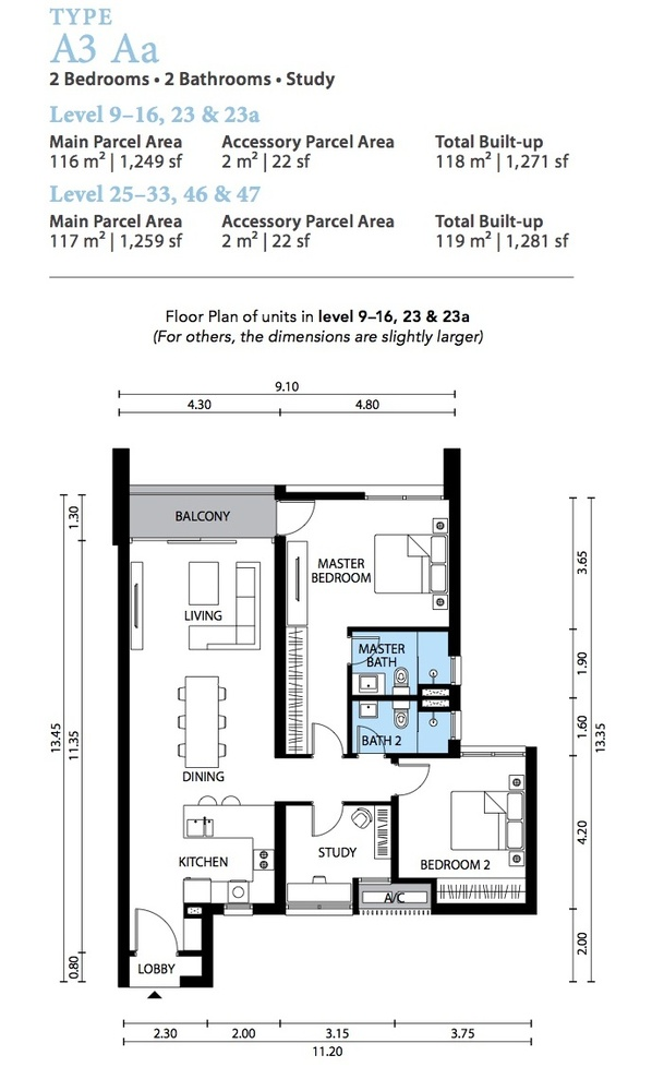 The Westside Three Type A3 Aa Floor Plan