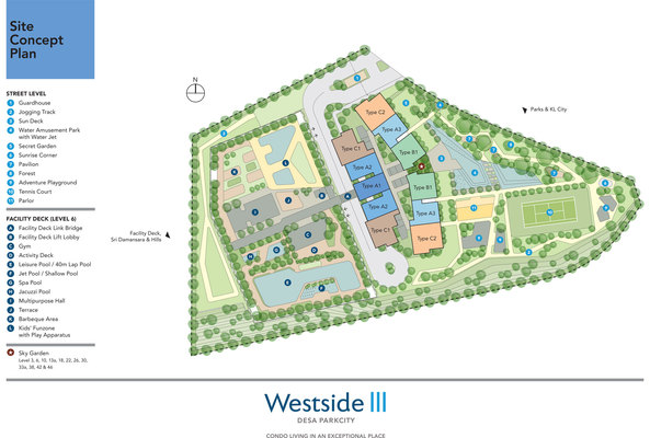 Site Plan of The Westside Three