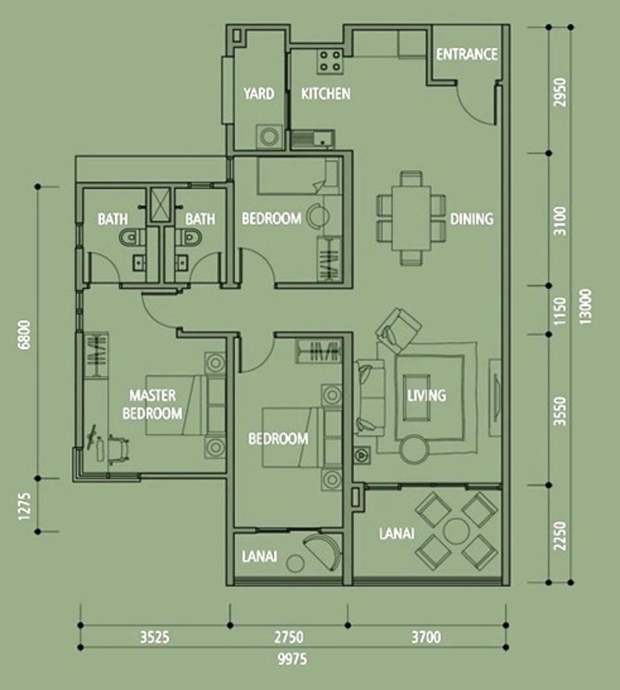 Midfields 2 Type A5 Floor Plan