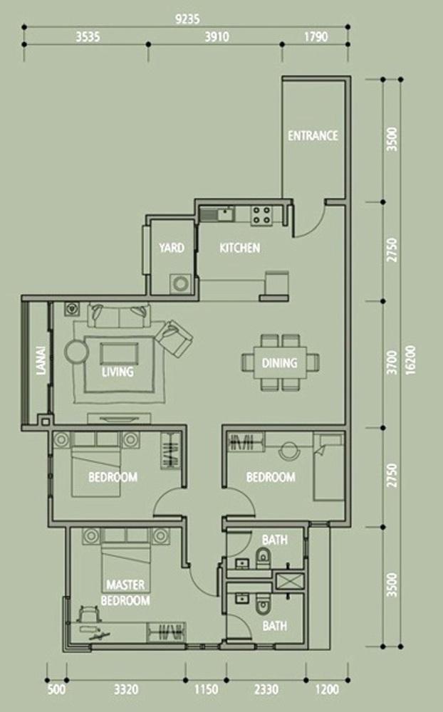 Midfields 2 Type C1 Floor Plan
