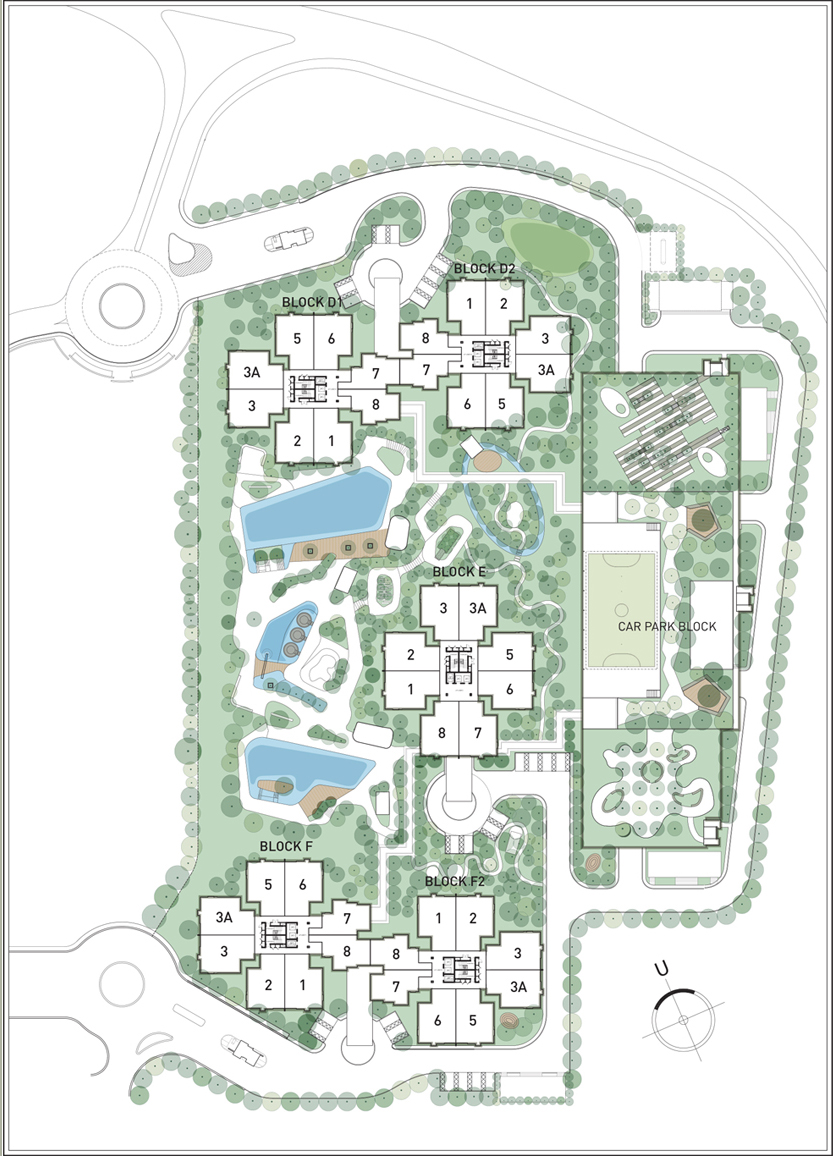 Site Plan of Midfields 2