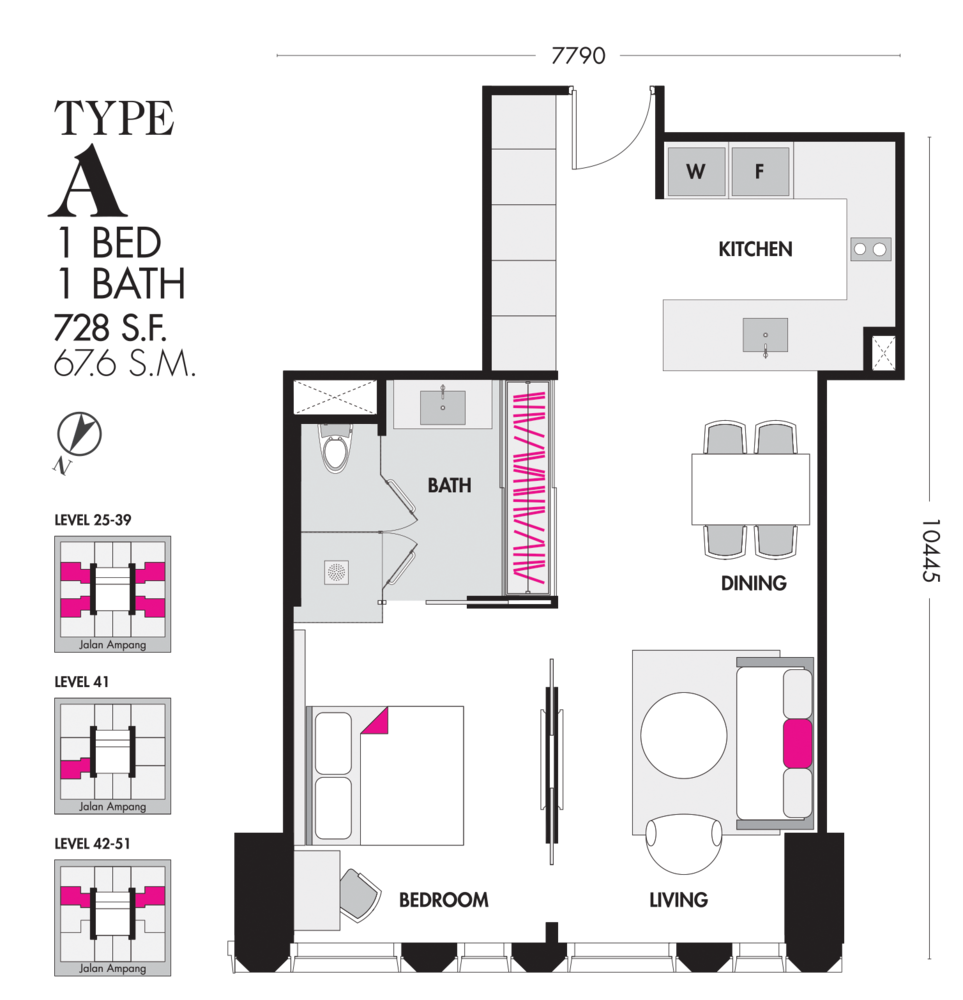 Tropicana The Residences Type A Floor Plan