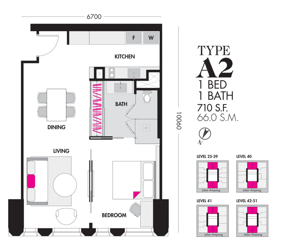 Tropicana The Residences Type A2 Floor Plan