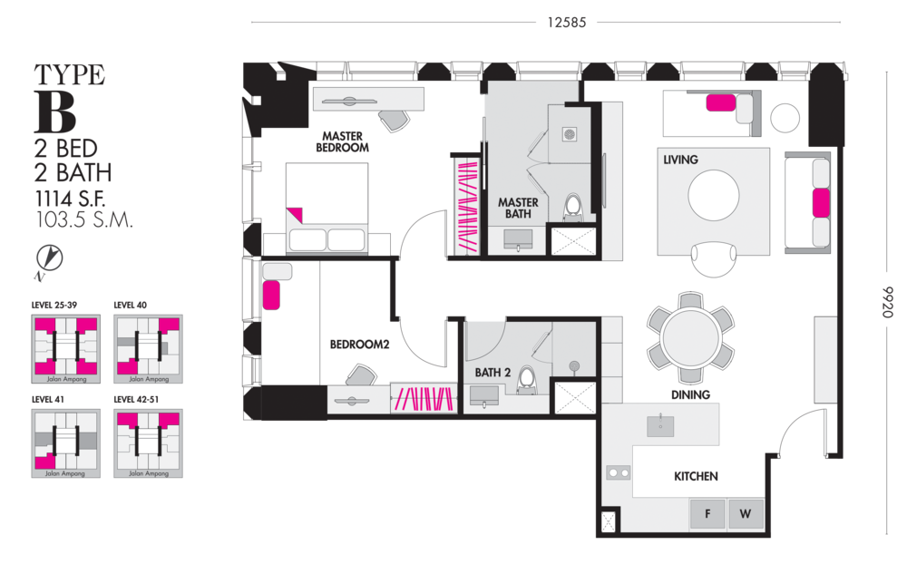 Tropicana The Residences Type B Floor Plan