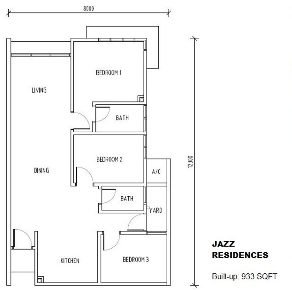 Jazz Residences @ Pacific Place Typical Floor Plan
