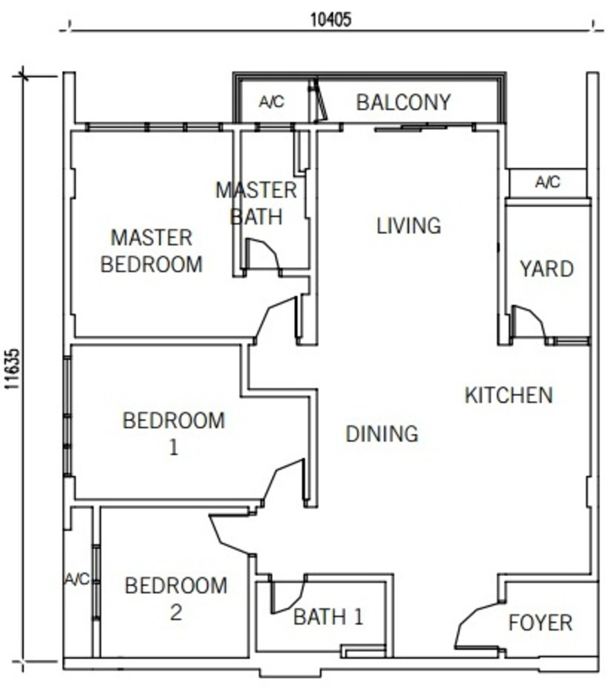 9INE Type B Floor Plan