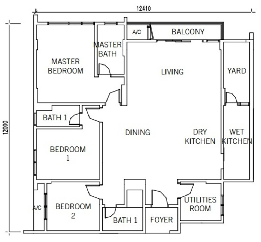 9INE Type C Floor Plan