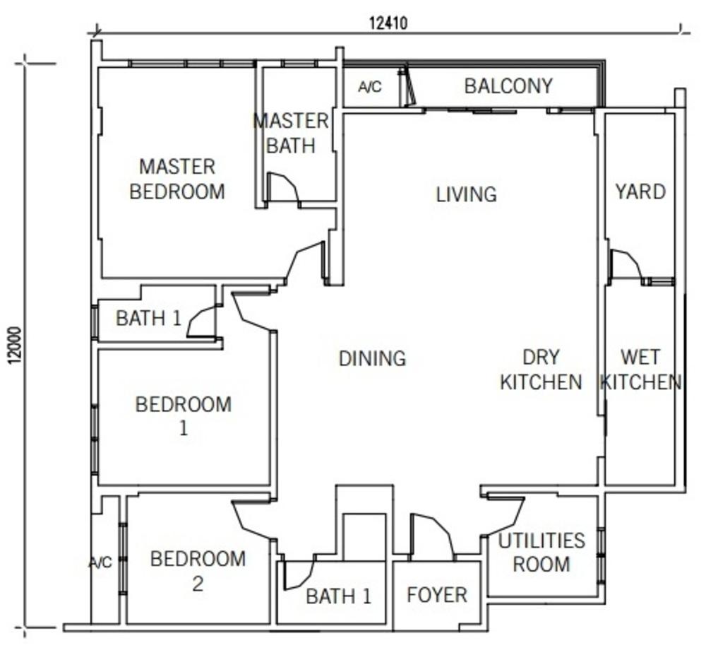 9INE Type C Floor Plan
