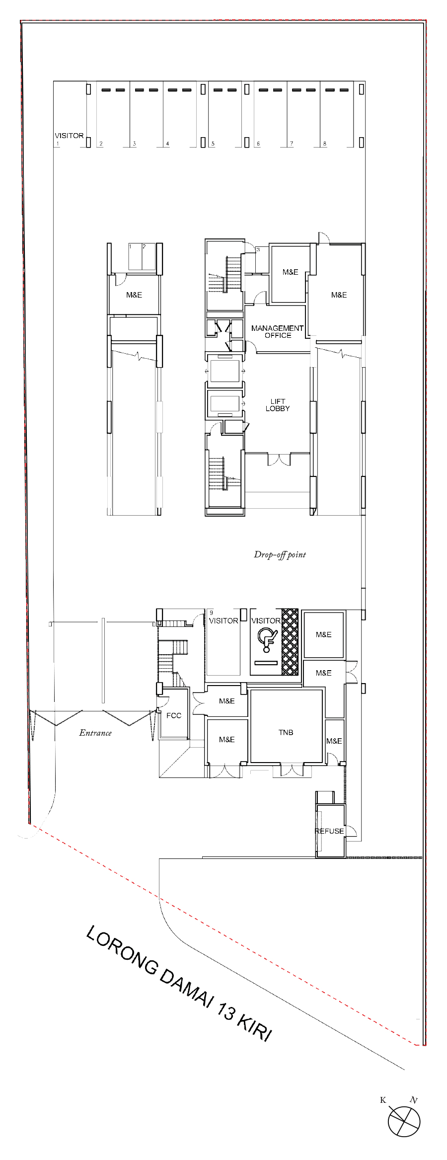 Site Plan of Damai Residence
