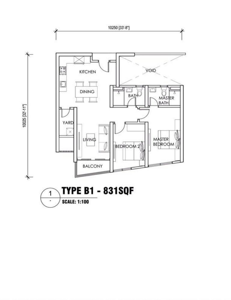 Reizz Residence Type B1 Floor Plan
