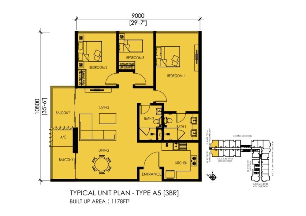 EkoTitiwangsa Type A5 Floor Plan