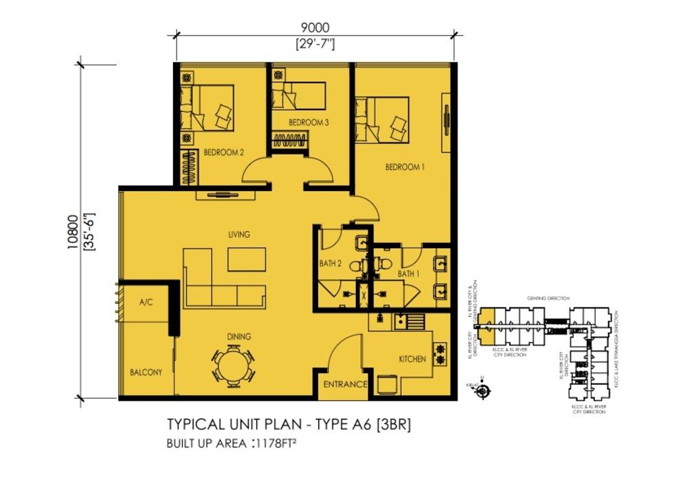 EkoTitiwangsa Type A6 Floor Plan