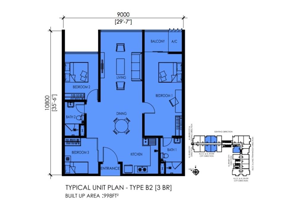EkoTitiwangsa Type B2 Floor Plan