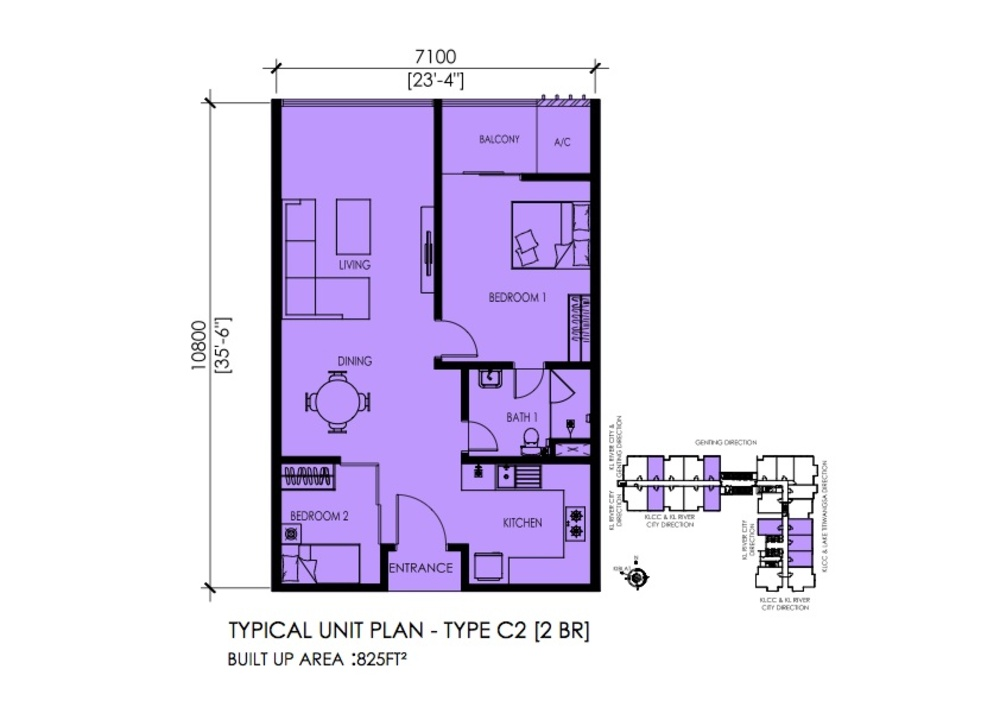 EkoTitiwangsa Type C2 Floor Plan