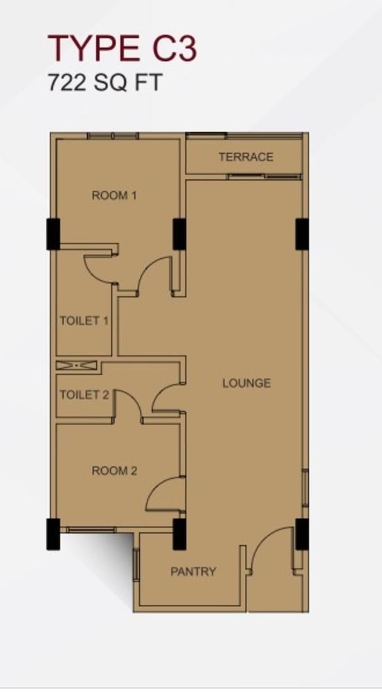 Suria @ North Kiara Type C3 Floor Plan
