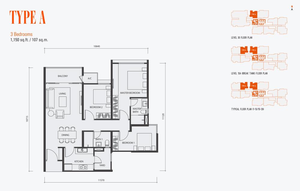 GenKL Type A Floor Plan