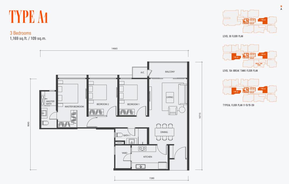 GenKL Type A1 Floor Plan